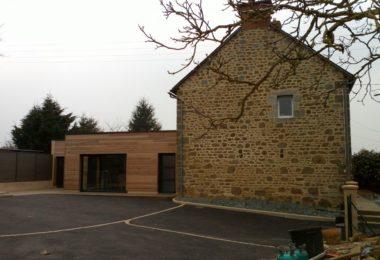 extension bois et aménagement