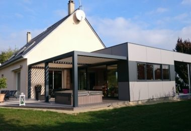 extension bois maison